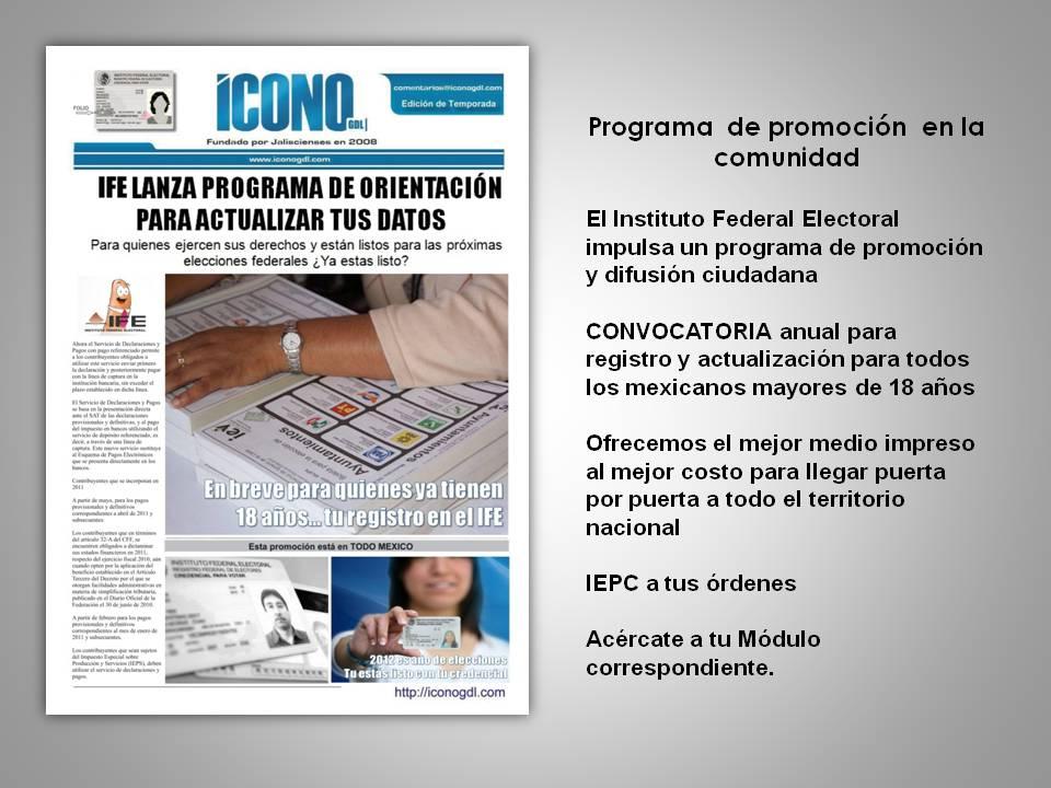 Ife Instituto Federal Electoral Hemeroteca Indice By Icono