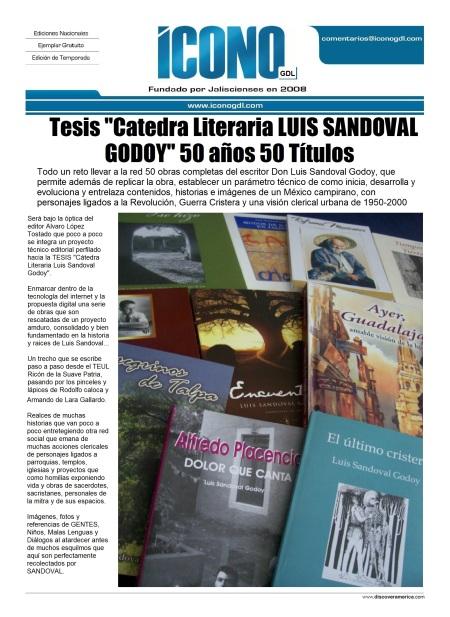 Cátedra Literaria Luis Sandoval Godoy