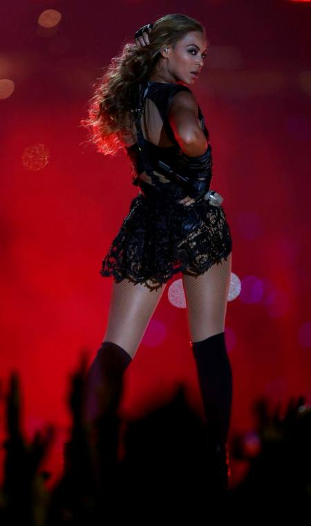 Beyonce performs during half-time show of NFL Super Bowl XLVII football game in New Orleans -0DER1513.jpg-