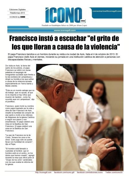 010 04 2013 El papa Francisco visitó Asís