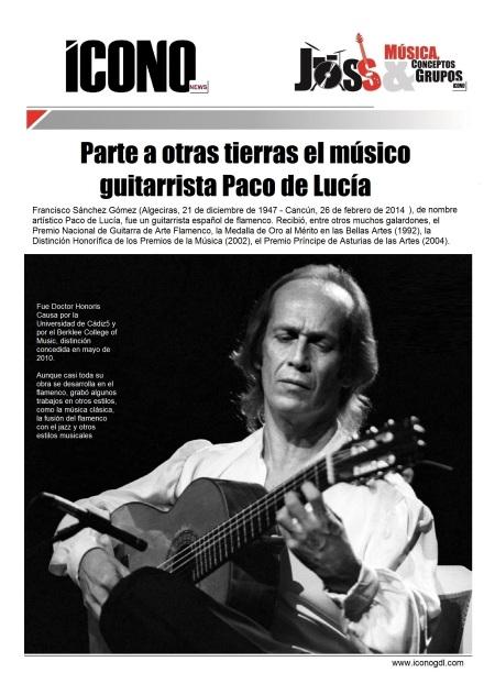 02 26 2014 Paco de Lucía