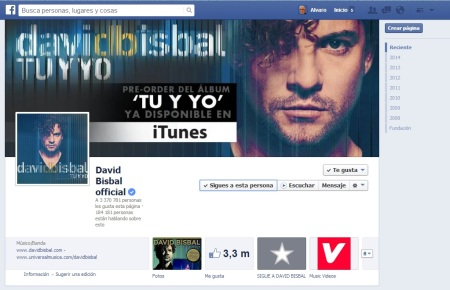 David Bisbal Facebook