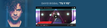 David Bisbal WEBSITE