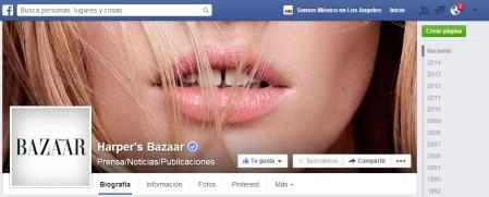 Harpers Bazar Facebook