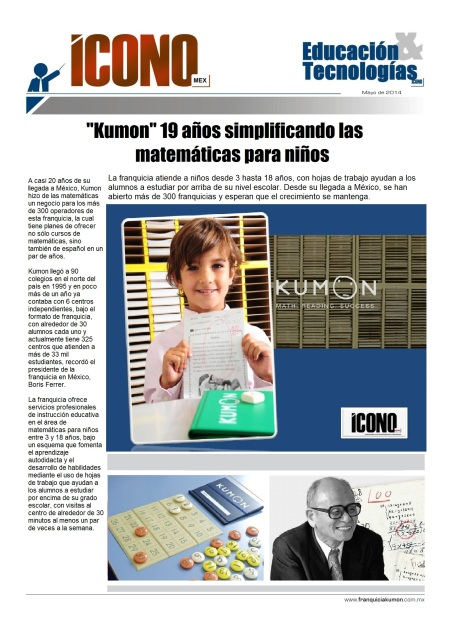 Boris Ferrer Mundo KUMON, Franquicias KUMON