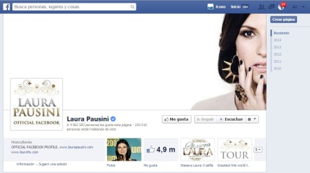 Laura Pausini Facebook Official