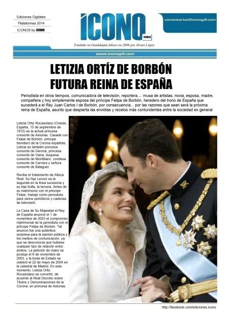 Letizia Ortíz y Felipe de Borbón