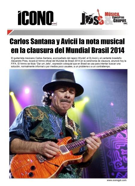 Carlos Santana Brasil 2014