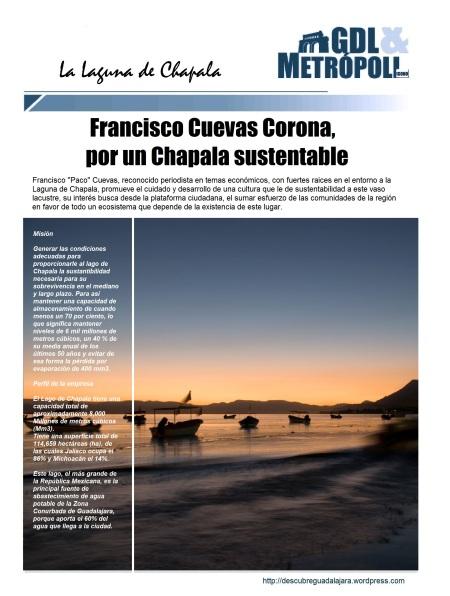 Francisco Cuevas Corona a favor de un Chapala Sustentable
