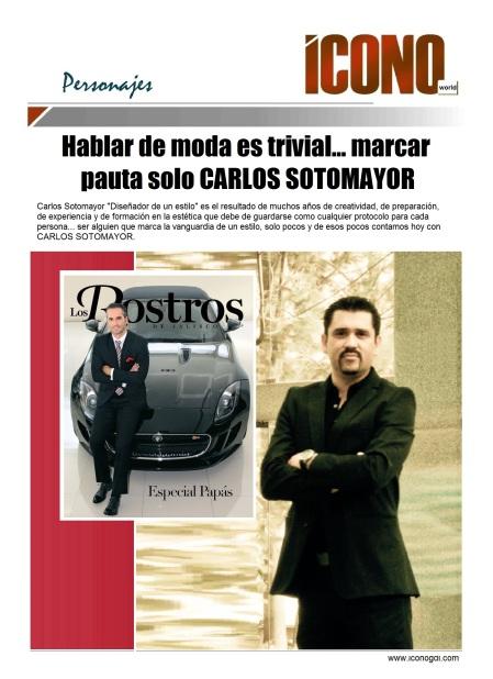 Diseñador de imagen Carlos Sotomayor