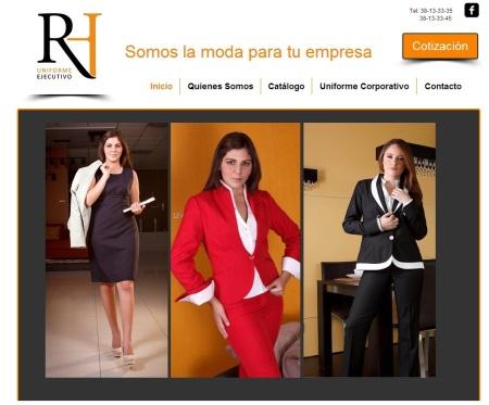 Uniformes Ejecutivos RH Website