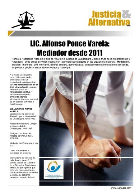 Alfonso Ponce Varela Mediación de Conflictos