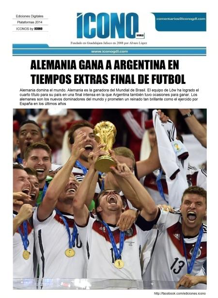 Alemania 2014 Campeón de Futbol