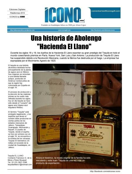 Tequila Hacienda El Llano