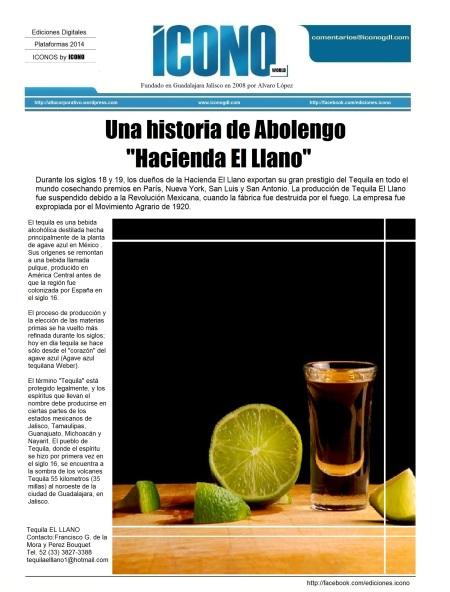 """Tequila Hacienda """"El Llano"""""""
