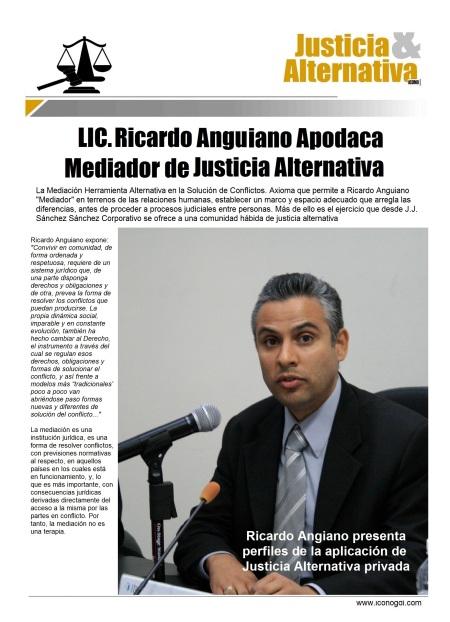 Ricardo Anguiano Apodaca JUSTICIA ALTERNATIVA