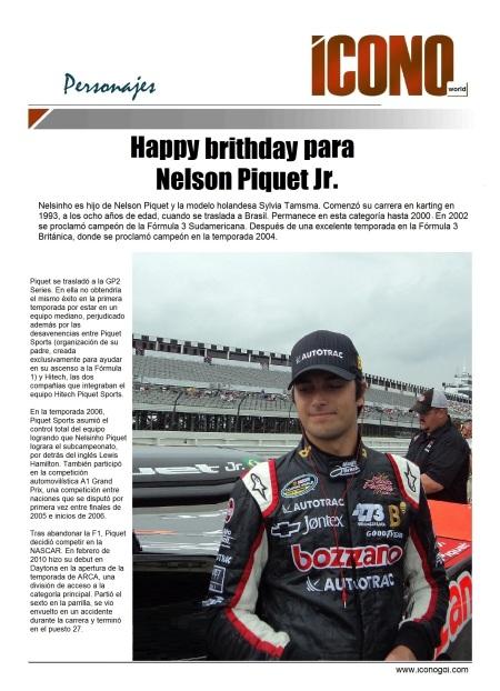 Feliz Cumpleaños para Nelson Piquet J.