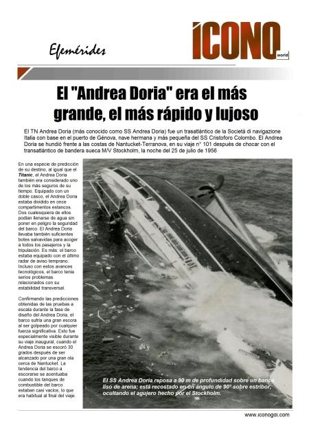 Recordando el Andrea Doria
