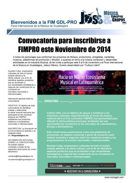 Convocatoria FIMPRO