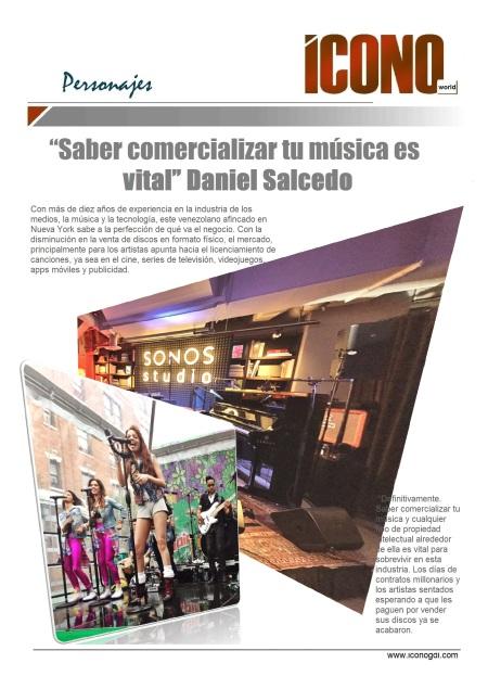Daniel Salcedo en nuestras FANPAGE