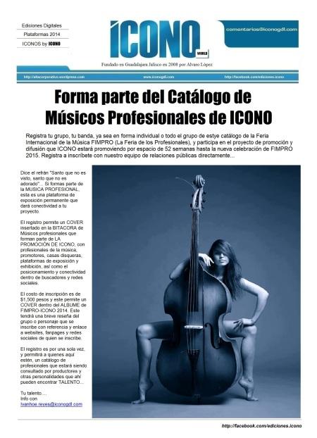 Catálogo de Músicos FIMPRO 2014