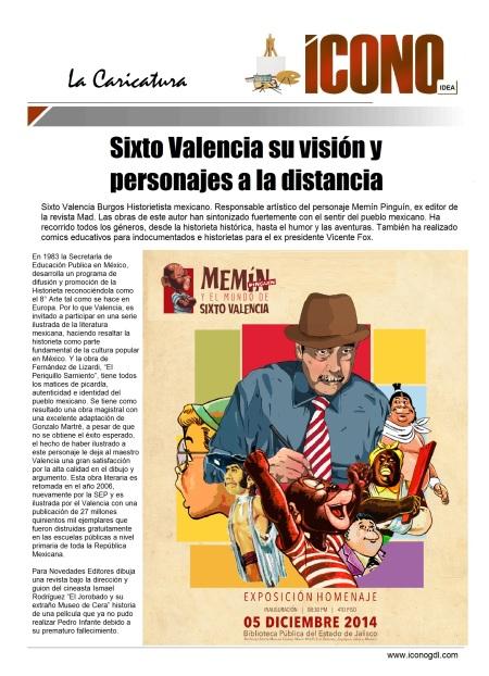 Sixto Valencia el PERSONAJE