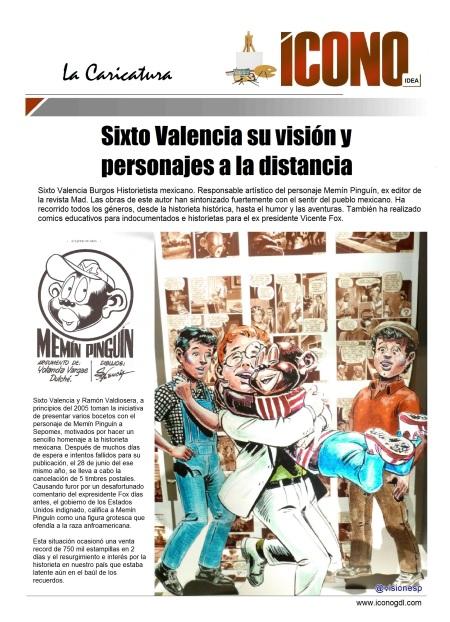 Sixto Valencia SUS PERSONAJES