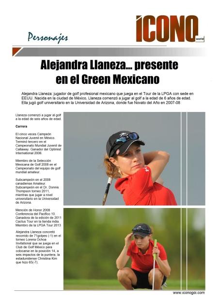 Alejandra Llaneza el el Club de Golf México
