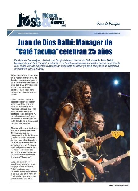 EcosFIMPRO Juan de D.Balbi