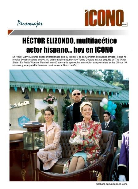 Héctor Elizondo  con Anne Hathaway y Julie  Andrews