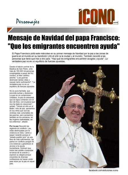 S.S. Francisco Mensaje Navideño 2014