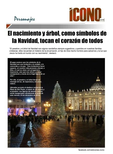 Nacimiento y árbol Navideño Vaticano 2014