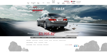 Vertice HONDA website