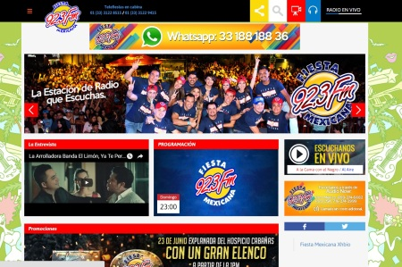Promomedios website Fiesta Mexicana